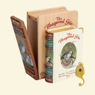 The Bhagavad Gita - Wooden Edition A7 Size Book