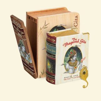The Bhagavad Gita - Wooden Boxed Edition A8 Size Book